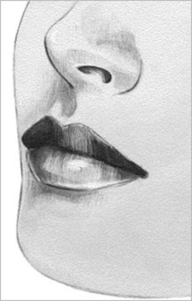 100 How To Draw Tutorials - Draw Lips Expressively or Poutingly - Eyes, Hair, Face, Lips, People, Animals, Hands - Step by Step Drawing Tutorial for Beginners - Free Easy Lessons