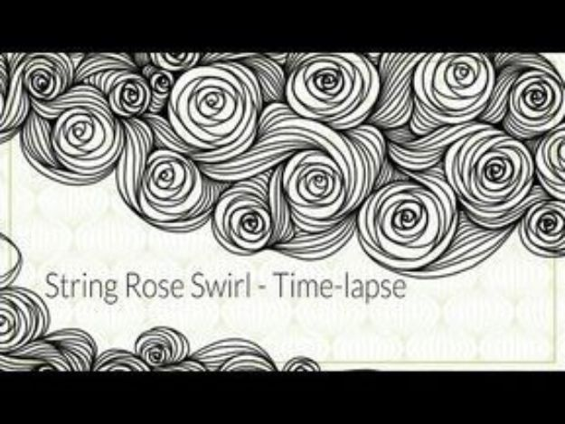Flower Drawing Tutorials - Draw String Rose - Simple Tutorial for Easy Flower Doodles, Vintage Design Ideas for Flowers, Step by Step Pencil Drawings - How to Draw a Rose, Lily, Hibiscus, Daisy