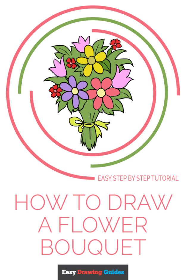 Flower Drawing Tutorials - Draw a Flower Bouquet - Simple Tutorial for Easy Flower Doodles, Vintage Design Ideas for Flowers, Step by Step Pencil Drawings - How to Draw a Rose, Lily, Hibiscus, Daisy