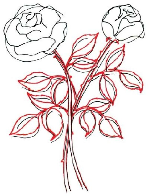 Flower Drawing Tutorials - Draw a Rose in 5 Steps - Simple Tutorial for Easy Flower Doodles, Vintage Design Ideas for Flowers, Step by Step Pencil Drawings - How to Draw a Rose, Lily, Hibiscus, DaisyFlower Drawing Tutorials - Draw a Rose in 5 Steps - Simple Tutorial for Easy Flower Doodles, Vintage Design Ideas for Flowers, Step by Step Pencil Drawings - How to Draw a Rose, Lily, Hibiscus, Daisy