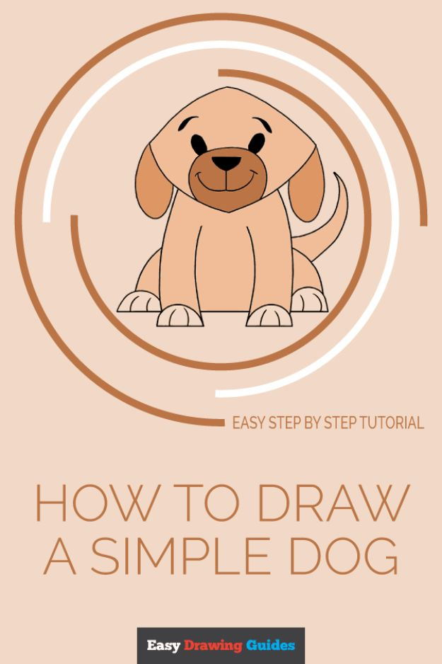 How to Draw Dogs - Draw a Simple Dog - Easy Step by Step Drawing Tutorial - Learn How To Draw A Dog and Cute Puppies - Cartoon and Realistic Animals