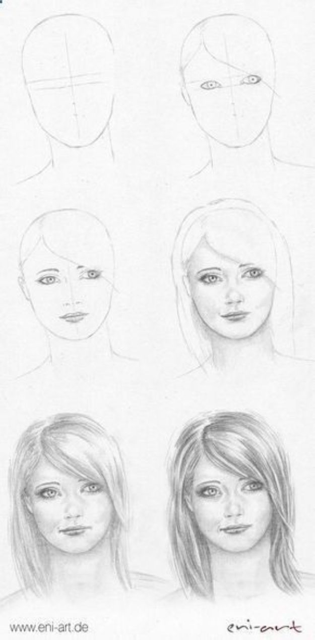 34 Ways To Learn How To Draw Faces Diy Projects For Teens