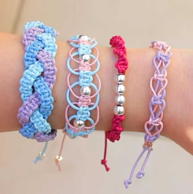 DIY Friendship Bracelets - Easy Arm Candy - Woven, Beaded, Leather and String - Cheap Embroidery Thread Ideas - DIY gifts for Teens