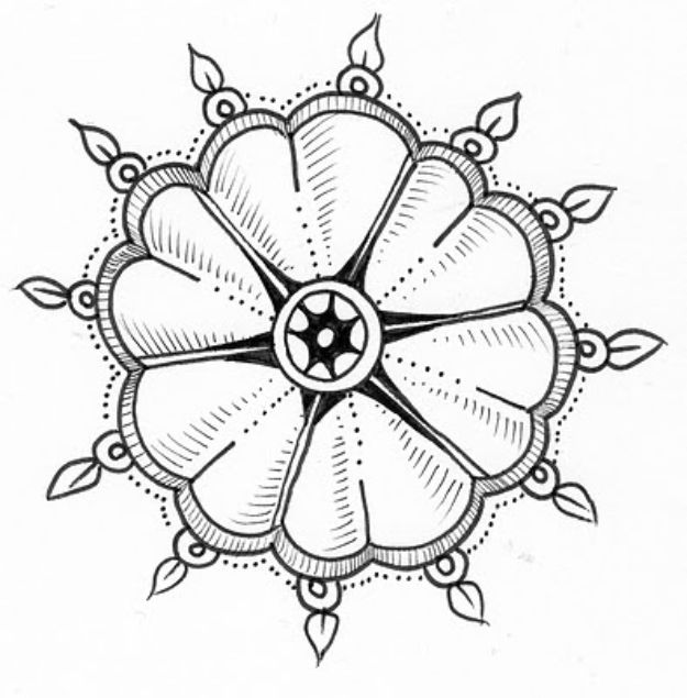 Flower Drawing Tutorials - Flower of Hearts - Simple Tutorial for Easy Flower Doodles, Vintage Design Ideas for Flowers, Step by Step Pencil Drawings - How to Draw a Rose, Lily, Hibiscus, Daisy