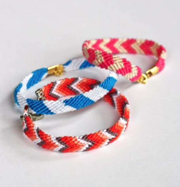 DIY Friendship Bracelets - Friendship Bracelets With Clasps - Woven, Beaded, Leather and String - Cheap Embroidery Thread Ideas - DIY gifts for Teens