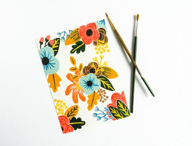 Flower Drawing Tutorials - Retro Painted Flowers Tutorial - Simple Tutorial for Easy Flower Doodles, Vintage Design Ideas for Flowers, Step by Step Pencil Drawings - How to Draw a Rose, Lily, Hibiscus, Daisy