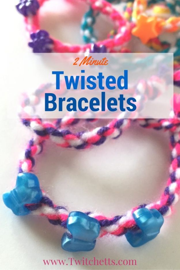 DIY Friendship Bracelets - Twisted Bracelets - Woven, Beaded, Leather and String - Cheap Embroidery Thread Ideas - DIY gifts for Teens