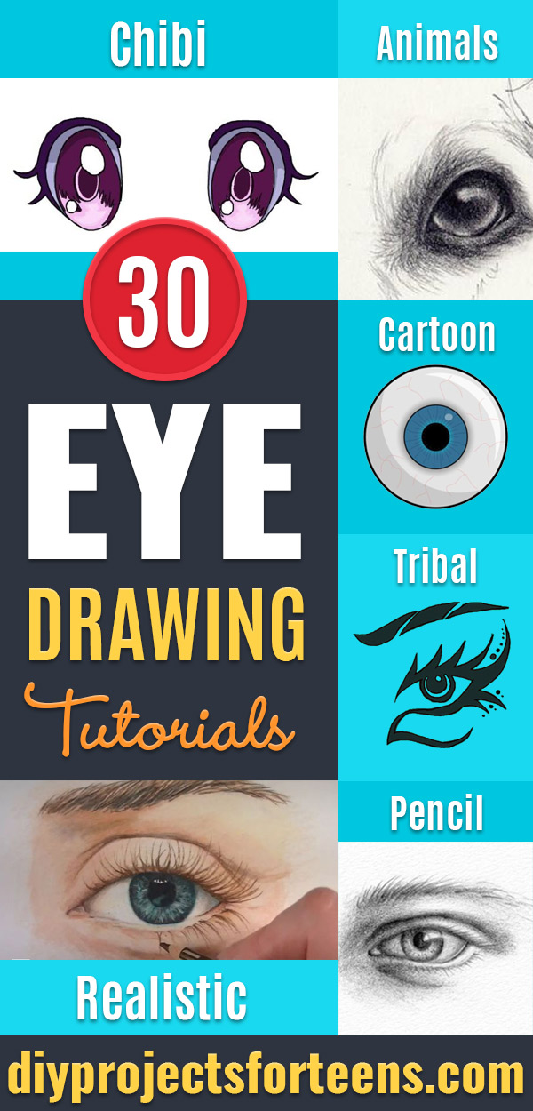 30 Eye Drawing Tutorials To Channel Your Inner Artist