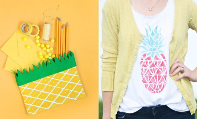 Pineapple Crafts - Easy DIY Ideas With Pineapples - Cute Craft Projects That Make Cool DIY Gifts - Wall Decor, Bedroom Art, Jewelry Idea