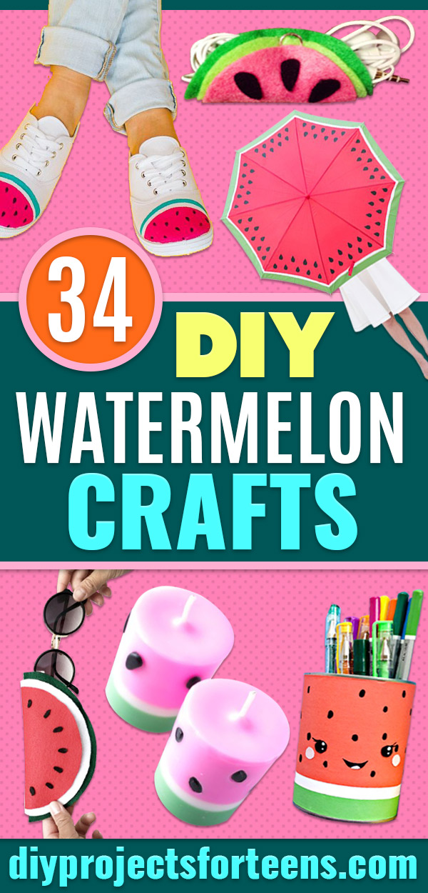 Watermelon Crafts - Easy DIY Ideas With Watermelons - Cute Craft Projects That Make Cool DIY Gifts - Wall Decor, Bedroom Art, Jewelry Idea