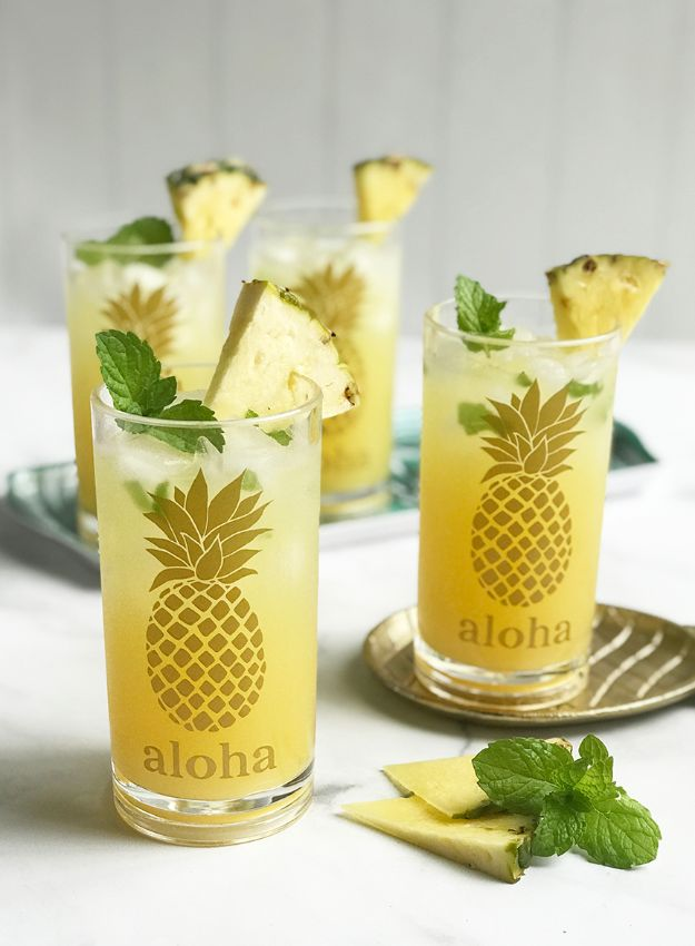 Pineapple Crafts - DIY Pineapple Glasses - Cute Craft Projects That Make Cool DIY Gifts - Wall Decor, Bedroom Art, Jewelry Idea