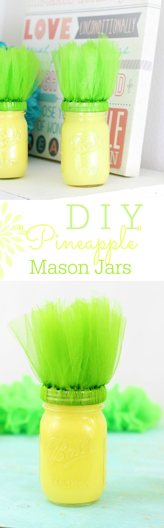 Pineapple Crafts - DIY Pineapple Mason Jars - Cute Craft Projects That Make Cool DIY Gifts - Wall Decor, Bedroom Art, Jewelry Idea