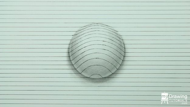 Easy Things to Draw When You Are Bored - Draw A 3D Sphere - Quick and Cool Drawing Lessons for Fun Art - How to Draw Basic Things, Cartoons, Animals, Flowers, People