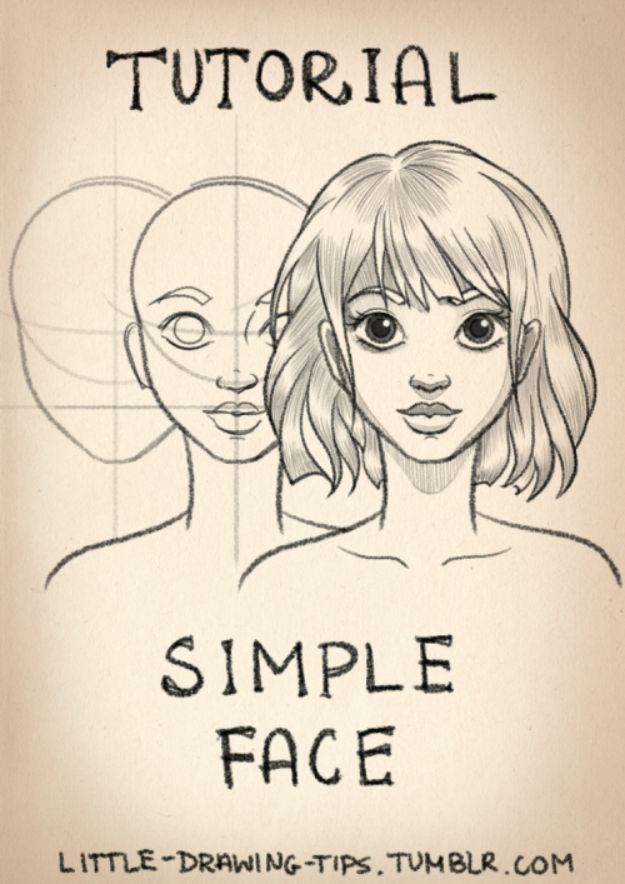 Easy Things to Draw When You Are Bored - Draw Simple Faces - Quick and Cool Drawing Lessons for Fun Art - How to Draw Basic Things, Cartoons, Animals, Flowers, People