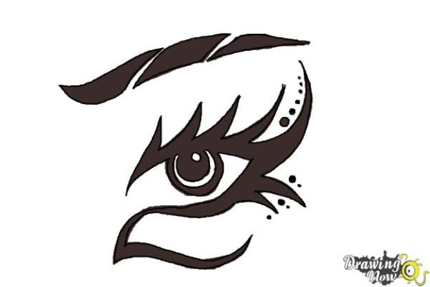 Eye Drawing Tutorials - Draw Tribal Eyes - Eays Ways to Learn How to Draw Eyes - How To Draw A Realistic Eye - Shading Eyes, Coloring Techniques and Step by Step Tutorials for Eye Drawings