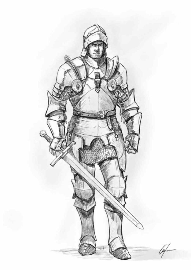 Easy Things to Draw When You Are Bored - Draw a Knight - Quick and Cool Drawing Lessons for Fun Art - How to Draw Basic Things, Cartoons, Animals, Flowers, People