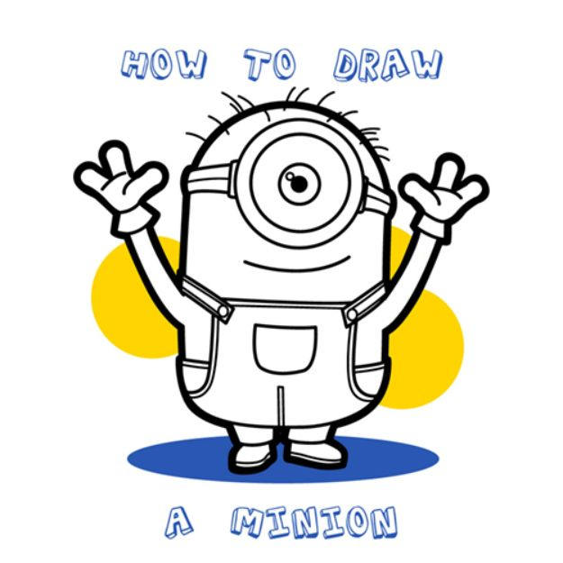 Easy Things to Draw When You Are Bored - Draw a Minion - Quick and Cool Drawing Lessons for Fun Art - How to Draw Basic Things, Cartoons, Animals, Flowers, People