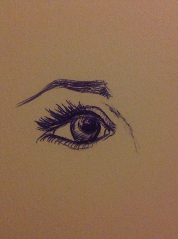 Eye Drawing Tutorials - Draw a Realistic Eye and Eyebrow in Pen - Eays Ways to Learn How to Draw Eyes - How To Draw A Realistic Eye - Shading Eyes, Coloring Techniques and Step by Step Tutorials for Eye Drawings