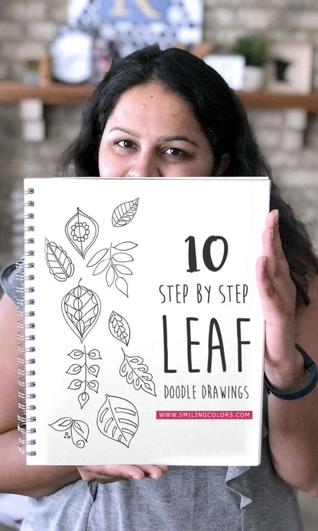 Easy Things to Draw When You Are Bored - Leaf Drawing Tutorial - Quick and Cool Drawing Lessons for Fun Art - How to Draw Basic Things, Cartoons, Animals, Flowers, People