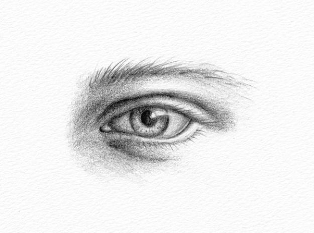 Eye Drawing Tutorials - Pencil Portrait of an Eye - Eays Ways to Learn How to Draw Eyes - How To Draw A Realistic Eye - Shading Eyes, Coloring Techniques and Step by Step Tutorials for Eye Drawings