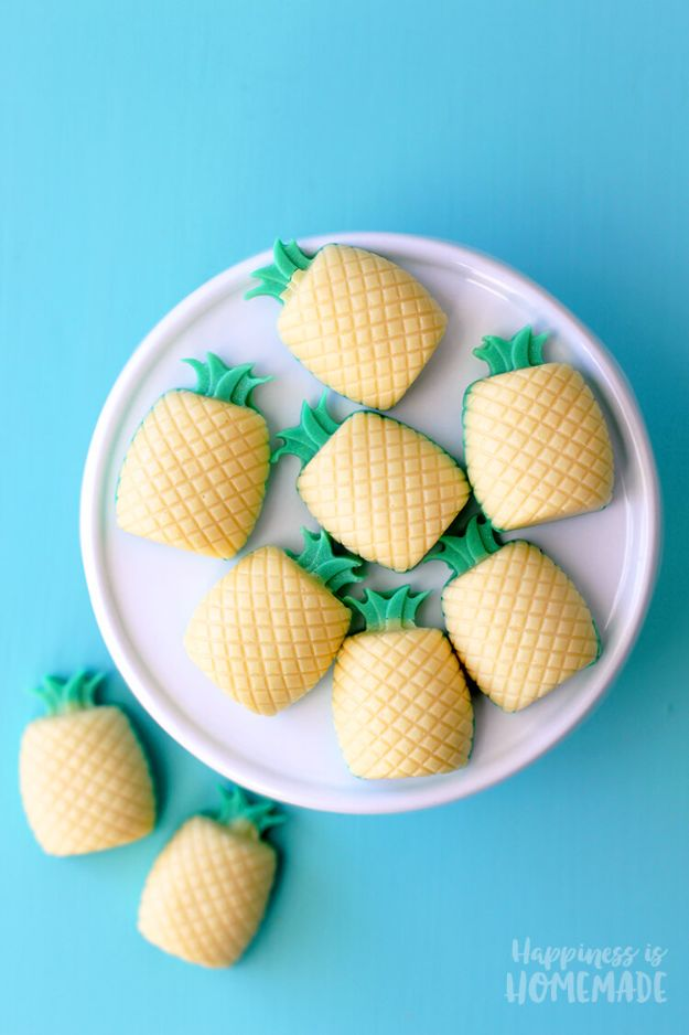 Pineapple Crafts - Piñacolada Mini Soap - Cute Craft Projects That Make Cool DIY Gifts - Wall Decor, Bedroom Art, Jewelry Idea