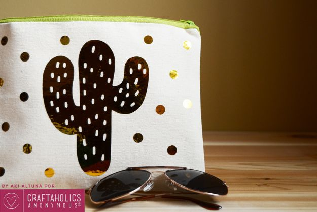 DIY Cactus Crafts | Polka Dot Cactus Pouch l Craft Ideas and Home Decor | Painting Tutorials, Gifts, Rocks, Cardboard, Wood Cactus Decorations