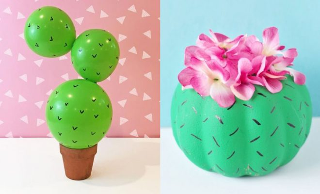 DIY Cactus Crafts | Craft Ideas and Home Decor | Painting Tutorials, Gifts, Rocks, Cardboard, Wood Cactus Decorations
