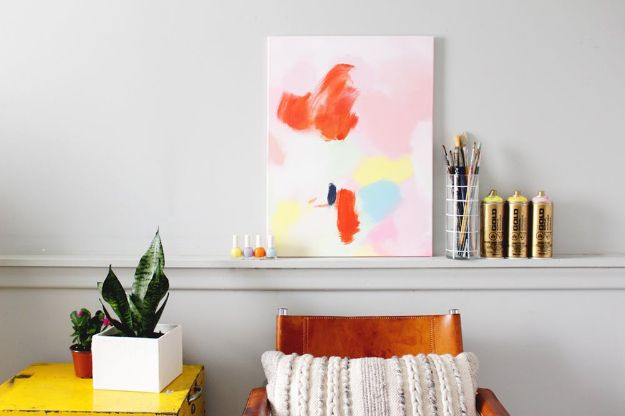 DIY Wall Art Ideas for Teens - Anthropologie Acrylic Wall Art - Teen Boy and Girl Bedroom Wall Decor Ideas - Cheap Canvas Paintings and Wall Hangings For Room Decoration
