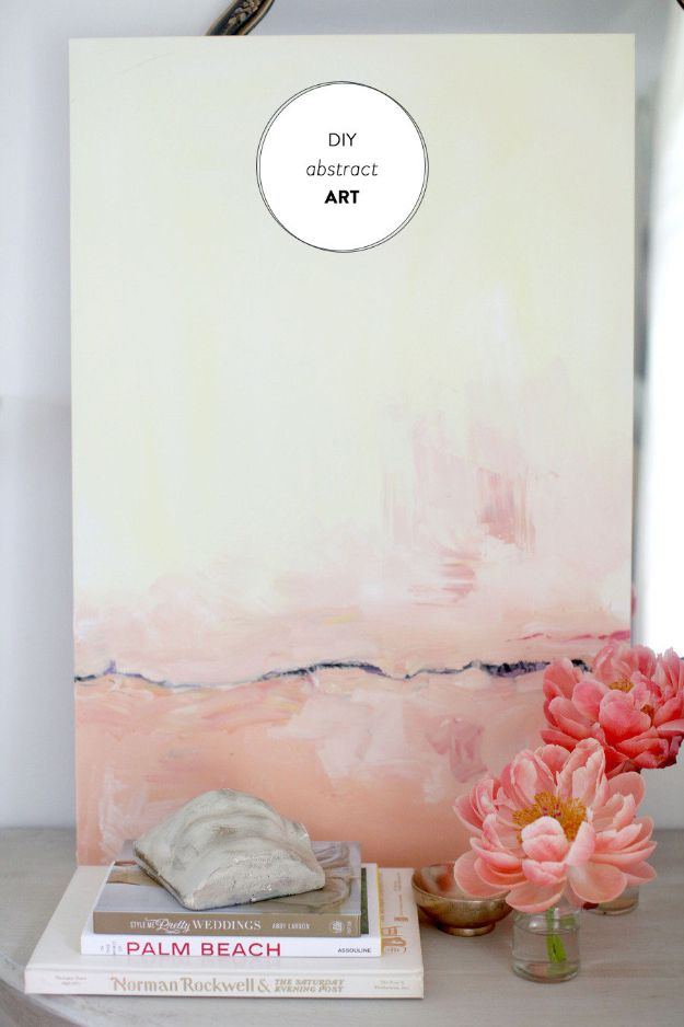 DIY Wall Art Ideas for Teens - DIY Abstract Art - Teen Boy and Girl Bedroom Wall Decor Ideas - Cheap Canvas Paintings and Wall Hangings For Room Decoration