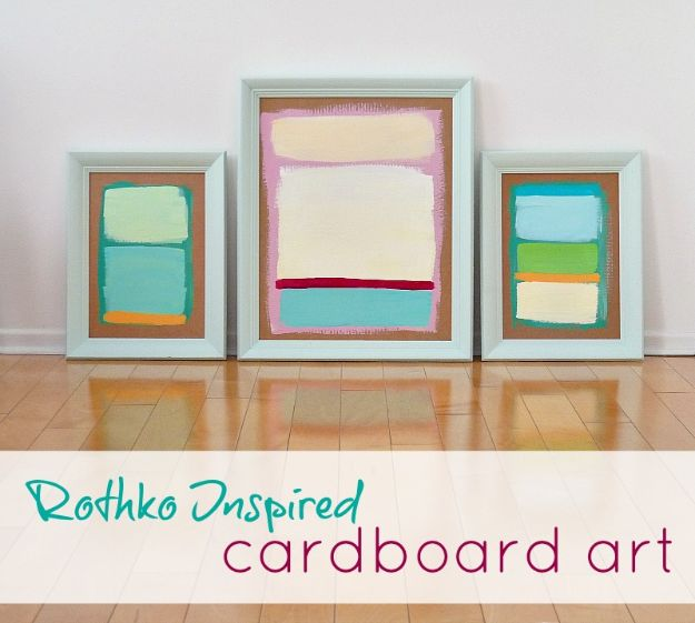 DIY Wall Art Ideas for Teens - DIY Rothko Inspired Wall Art - Teen Boy and Girl Bedroom Wall Decor Ideas - Cheap Canvas Paintings and Wall Hangings For Room Decoration