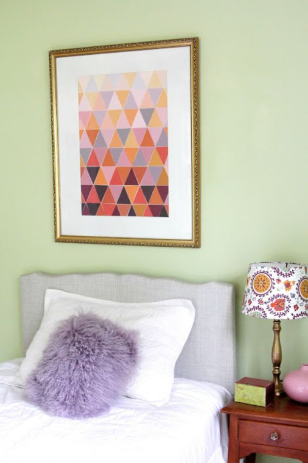 DIY Wall Art Ideas for Teens - Ombre Paint Chip Art - Teen Boy and Girl Bedroom Wall Decor Ideas - Cheap Canvas Paintings and Wall Hangings For Room Decoration