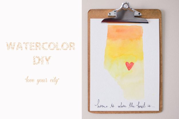 DIY Wall Art Ideas for Teens - Watercolor DIY Wall Art - Teen Boy and Girl Bedroom Wall Decor Ideas - Cheap Canvas Paintings and Wall Hangings For Room Decoration