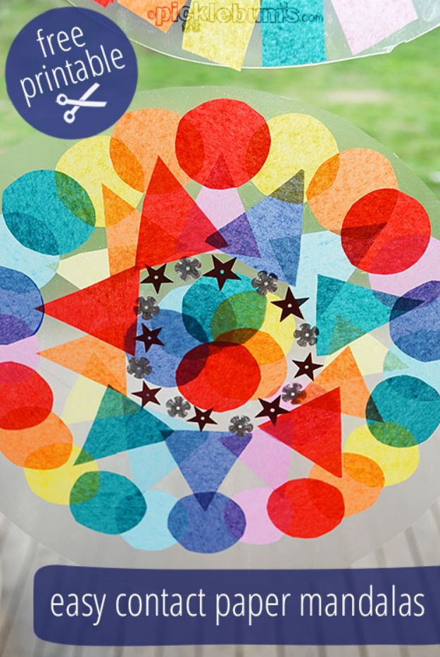 Easy Crafts for Teen Girls | Contact Paper Mandalas l Fun Craft and DIY Ideas for Teenagers and Tween Girl | Room Decor and Gifts