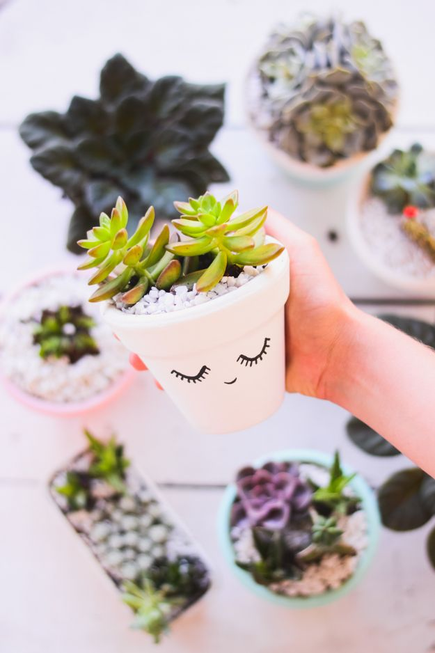 Easy Crafts for Teen Girls | DIY Clay Pot Decorated For Succulents l Fun Craft and DIY Ideas for Teenagers and Tween Girl | Room Decor and Gifts