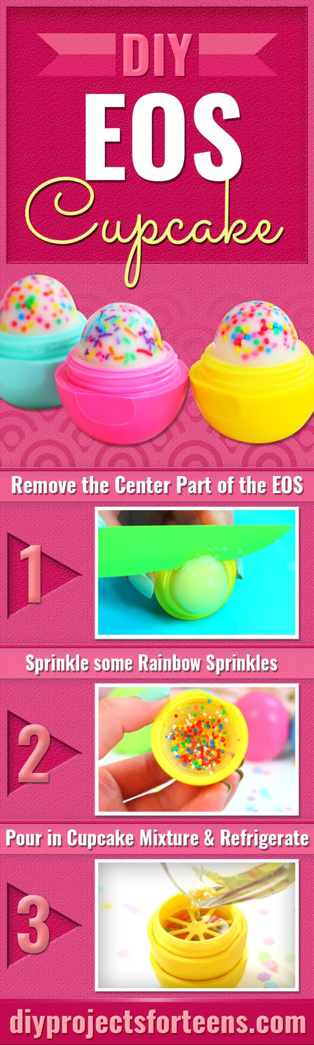 Easy Crafts for Teen Girls | DIY Cupcake EOS l Fun Craft and DIY Ideas for Teenagers and Tween Girl | Room Decor and Gifts