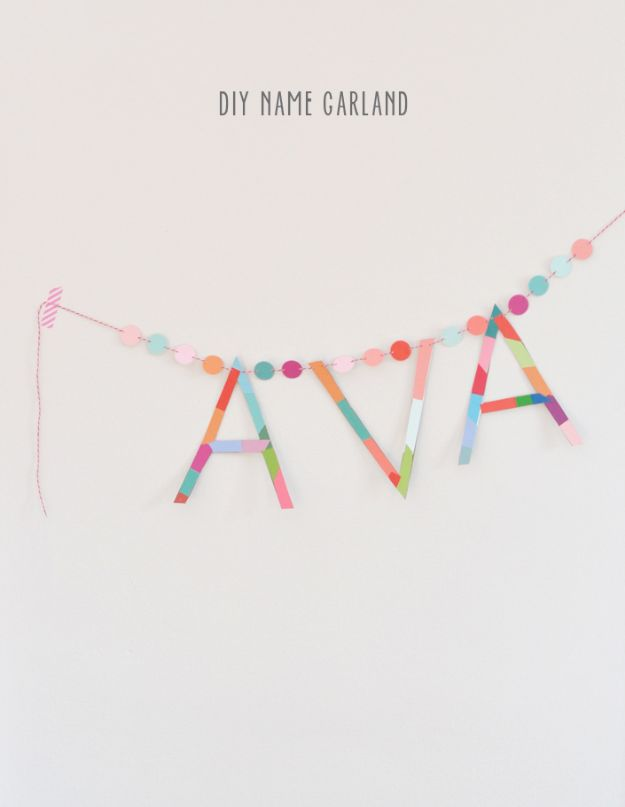 Easy Crafts for Teen Girls | DIY Name Garland l Fun Craft and DIY Ideas for Teenagers and Tween Girl | Room Decor and Gifts