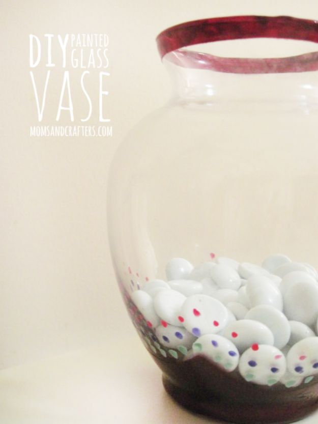Easy Crafts for Teen Girls | DIY Painted Glass Vase l Fun Craft and DIY Ideas for Teenagers and Tween Girl | Room Decor and Gifts