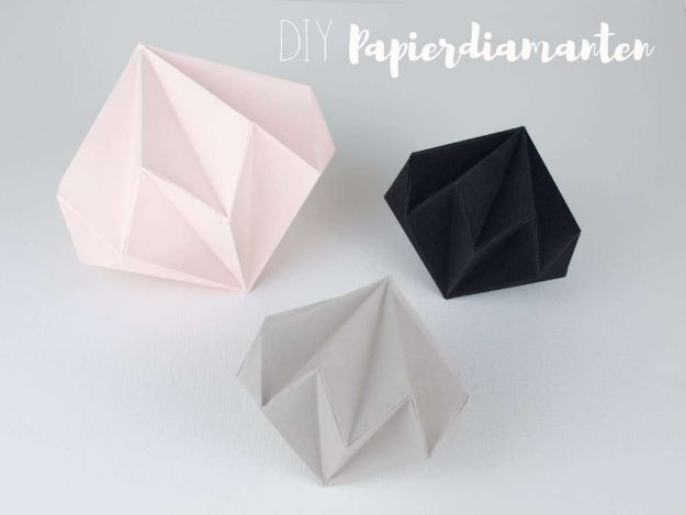 Easy Crafts for Teen Girls | DIY Paper Diamonds l Fun Craft and DIY Ideas for Teenagers and Tween Girl | Room Decor and Gifts
