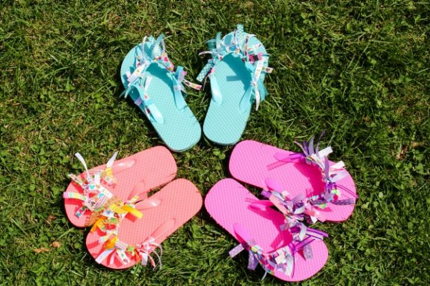 Easy Crafts for Teen Girls | DIY Ribbon Flip Flops l Fun Craft and DIY Ideas for Teenagers and Tween Girl | Room Decor and Gifts