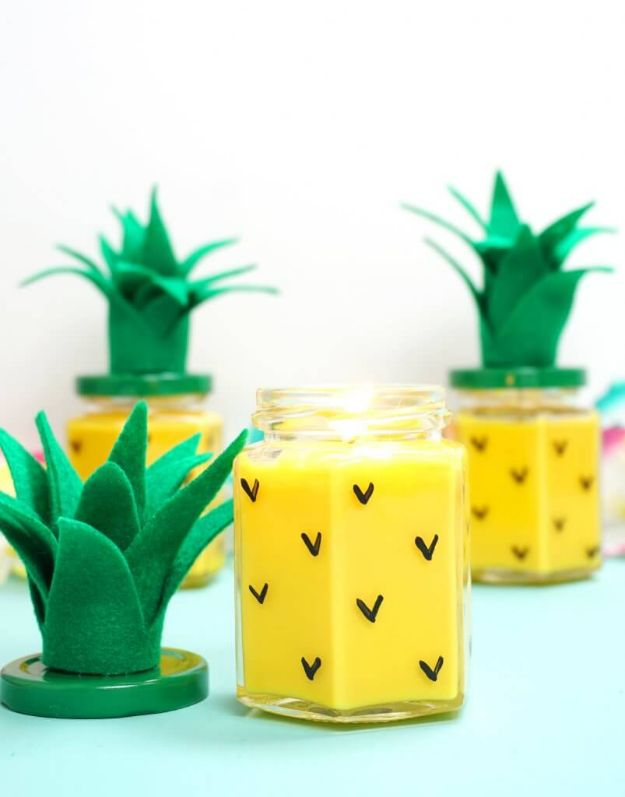 Easy Crafts for Teen Girls | Easy DIY Pineapple Candles l Fun Craft and DIY Ideas for Teenagers and Tween Girl | Room Decor and Gifts