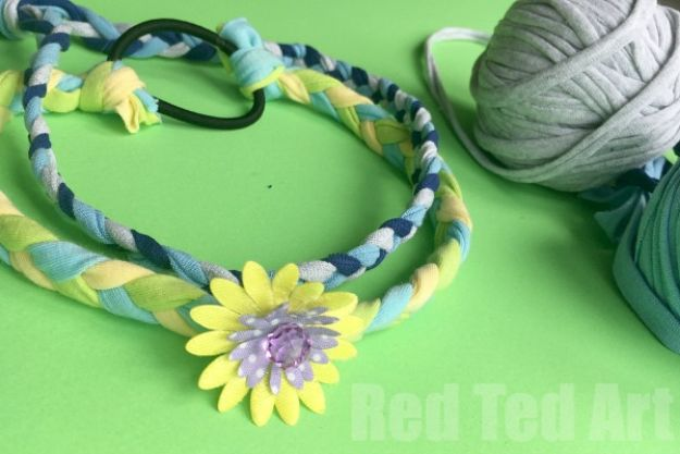Easy Crafts for Teen Girls | Easy T-shirt Yarn Hairbands l Fun Craft and DIY Ideas for Teenagers and Tween Girl | Room Decor and Gifts