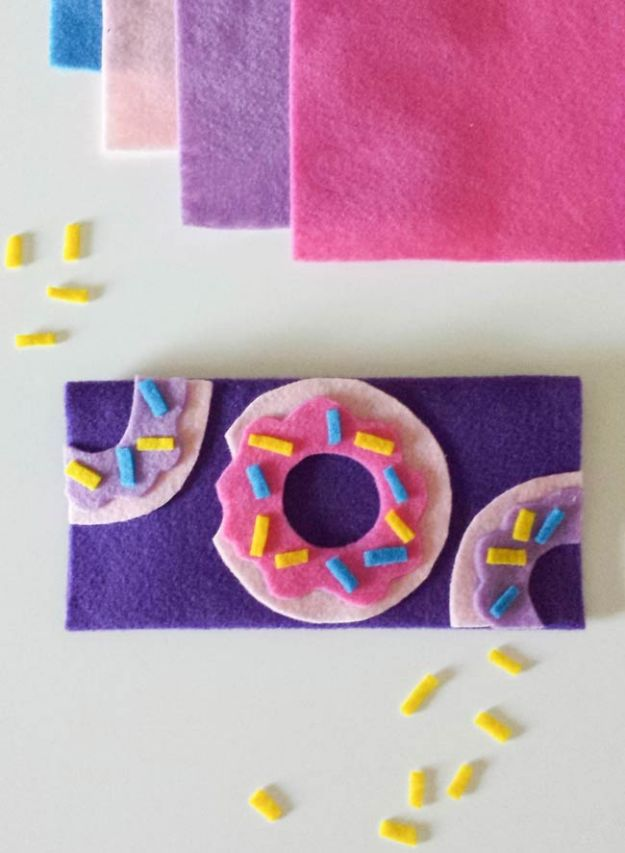Easy Crafts for Teen Girls | Felt Wallet DIY l Fun Craft and DIY Ideas for Teenagers and Tween Girl | Room Decor and Gifts