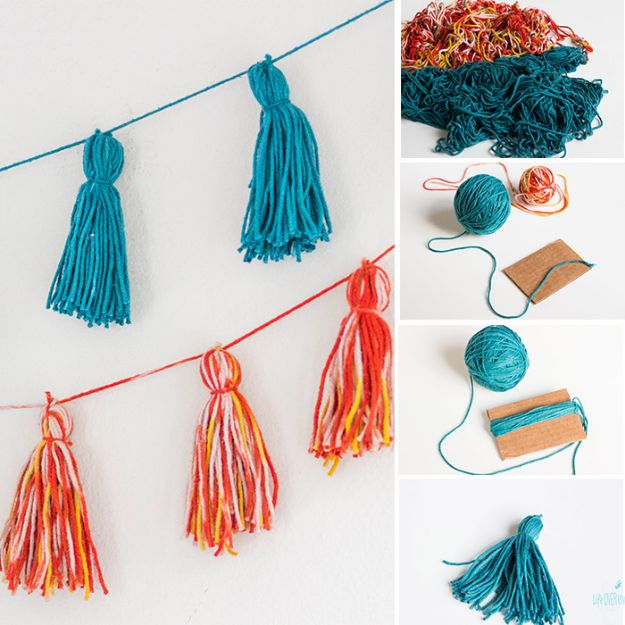 Easy Crafts for Teen Girls | Fun Wall Garland l Fun Craft and DIY Ideas for Teenagers and Tween Girl | Room Decor and Gifts